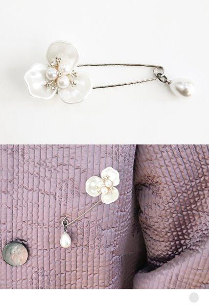 자개꽃옷핀브로치 [ BBA4083 ]